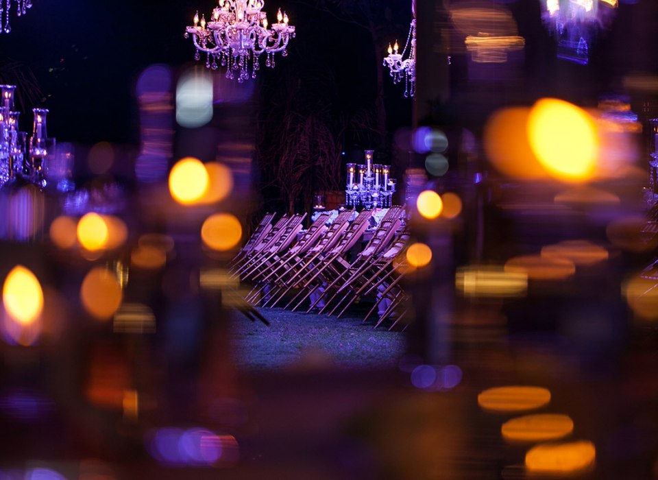 Wedding lights in professional photography