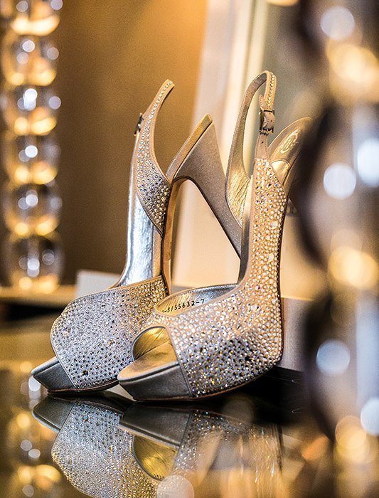 Charming bridal wedding shoes